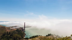 Golden Gate Bridge and Fog San Francisco Day Timelapse Stock Footage