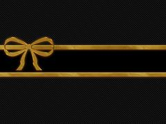 Blank bar gold border on stripe background with copy space Stock Illustration