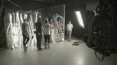 Time lapse filming process in the Studio pavilion Stock Footage