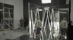 Time lapse installation of decorations in the Studio before shooting Stock Footage