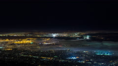 San Francisco and Oakland With Fog Night Timelapse Stock Footage
