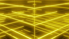 Active matrix flowing lines and articles LOOP 4K Yellow Stock Footage
