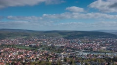 City Hamelin from aerial viewpoint in Germany, time lapse Stock Footage