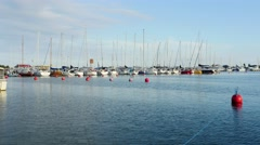 Time-lapse of boats, at south harbour, Hanko, Finland Stock Footage
