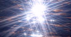 Sparkling Sunstars Liquid Crystal Abstract Slowmo Stock Footage