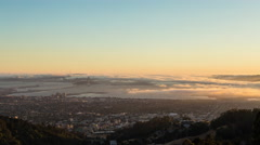 San Francisco Fog Day To Night Sunset Timelapse from Berkeley Overlook Stock Footage