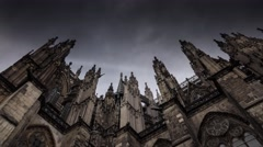 Cologne Cathedral against the sky in Germany Stock Footage