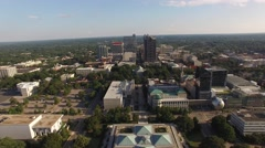 Flying above downtown Raleigh in July. Stock Footage