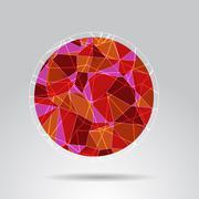 Orange polygon ball design background Stock Illustration