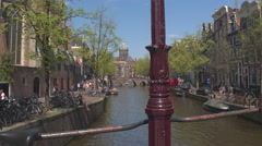 CLOSE UP: Tourists on holiday visiting old city centre, sightseeing and touring Stock Footage