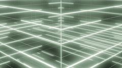 Active matrix flowing lines and articles LOOP 4K pale green Stock Footage