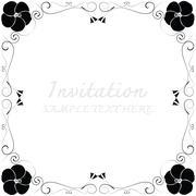 invitation with beautiful designs. - stock illustration