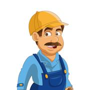 Construction or industrial worker icon Stock Illustration