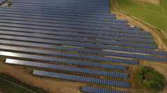 Photovoltaic power station, solar park Stock Footage
