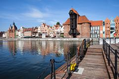 Picturesque City of Gdansk in Poland Stock Photos