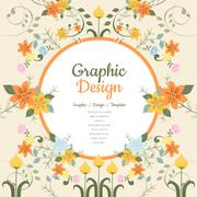 Graceful brochure template Stock Illustration
