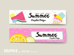 Adorable banner template Stock Illustration
