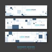 Simplicity banner template Stock Illustration