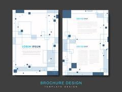 Simplicity brochure template Stock Illustration