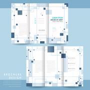 Simplicity tri-fold brochure Stock Illustration