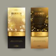 Gorgeous banner design Stock Illustration