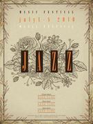 Jazz festival poster Piirros