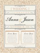 Wedding celebration poster Stock Illustration