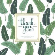 Attractive thank you card design Stock Illustration