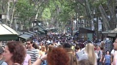 Crowded Street With Pedestrians Stock Footage