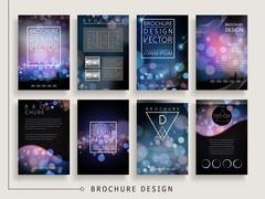 gorgeous brochure template - stock illustration