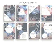 graceful brochure template - stock illustration