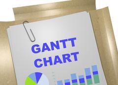 Gantt Chart concept Stock Illustration