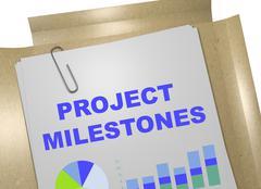 Project Milestones concept Stock Illustration