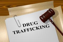 Drug Trafficking concept Stock Illustration