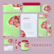 Gorgeous corporate identity design set Stock Illustration