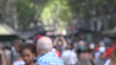 Pedestrians On Crowded Street Stock Footage
