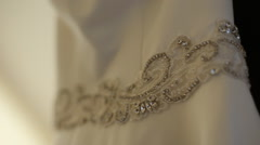 Diamond Brooch at Luxury Wedding Dress Stock Footage