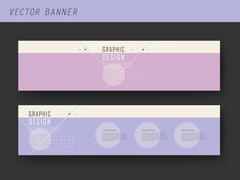 Simplicity banner template design Stock Illustration