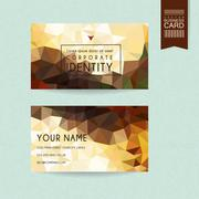 gorgeous business card design template - stock illustration