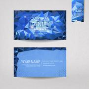 Gorgeous business card design template Stock Illustration