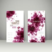 trendy banner template set design - stock illustration