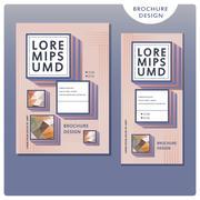 Trendy brochure template design set Stock Illustration