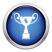 Dog prize cup icon Stock Illustration