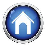 Dog house icon - stock illustration