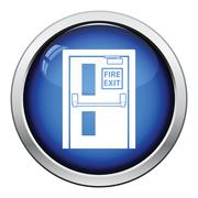 Fire exit door icon Stock Illustration