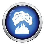 Fire and smoke icon - stock illustration