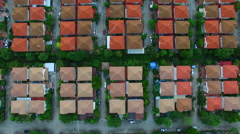 Aerial view of home village in thailand Stock Footage
