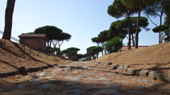 Roman road Timelapse Stock Footage