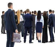 Large group of businesspeople Stock Photos