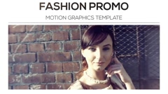 Fashion Promo Slideshow Movie Trailer and Titles Displays Photo Gallery Stock After Effects